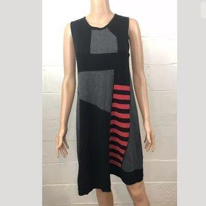Animale Colorblock Asymmetrical Sweater Dress
